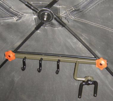 The most-reliable bow holder designed specifically for hub-style ground blinds. Mount the bow holder in seconds with no tools required. The fork rotates 360° to hold any bow and is securely locked into position with two allen screws. It also has three large accessory hooks to hold gear.