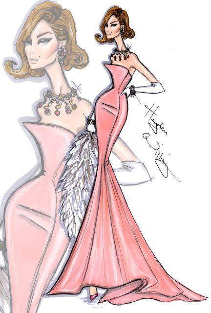 #Hayden Williams Fashion Illustrations  #'Blushingly Beautiful' by Hayden Williams
