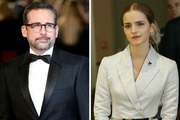 Emma Watson agradece Steve Carell por apoiar causa feminista no #Oscar >> http://glo.bo/1Ls494F