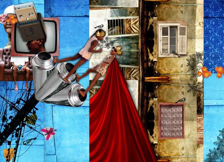 Colagens para apresentação da novela Salve Jorge - Rede Globo - Brasil. Série com 5 trabalhos relacionadas a Capadócia - Istambul - Brasil (Morro do Alemão - RJ) :: Collages for presenting novel Salve Jorge - Rede Globo - Brazil. Series with 5 jobs related to Cappadocia - Istanbul - Brazil (Morro do Alemao - Rio de Janeiro).  marcia@substancia4.com.br