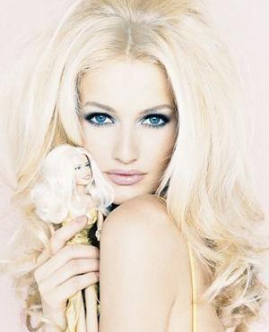 Karen Mulder & her Barbie, Big Sexy Hair.