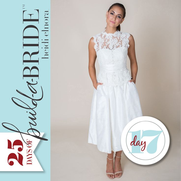 "The ""build-a-bride"" by heidi elnora line makes it easy to transform any gown! Add some lace to the sweet Ollie Alice with our Katie Grace Cover Up and Ruched Belt! Email info@heidielnora.com for an application to nominate your favorite bride."