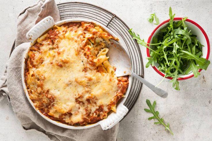 Dat wordt genieten aan tafel met deze overheerlijke pasta ovenschotel met courgette - Recept - Allerhande