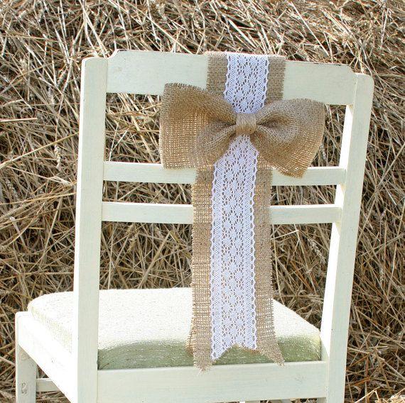 Rustique de mariage mariage rustique, décorations de chaise de mariage rustique…                                                                                                                                                                                 More