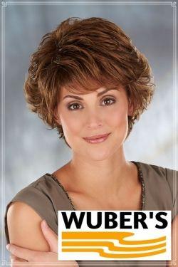 Parrucca Wuber's anche per chemioterapia capelli  in fibra parte alta lavorata a mano monofilamento modello Gloria