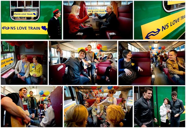 Nieuwe liefde vinden in de NS Love train met liedjes van Nick en Simon. Photo Republic / Robin Utrecht