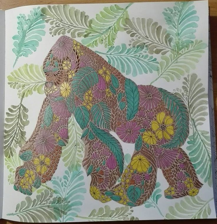 Finished: 28. 7. 2017; Source: Animal Kingdom (Millie Marotta); Medium: DW Artist, DW Inktense, gel pens