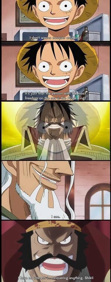Don't want to conquer. Monkey D. Luffy - One Piece