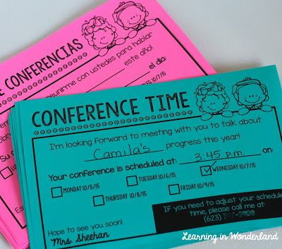 Editable and easy to fill out conference reminders!