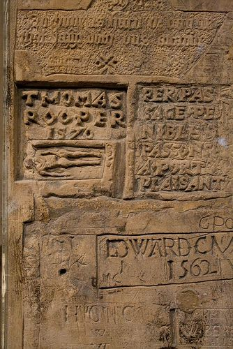 Graffiti in a cell in the Tower of London