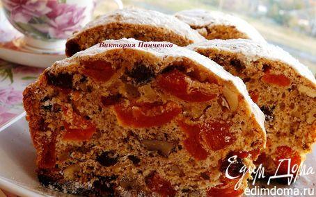 Пряный кекс с вяленой клюквой, курагой и орехами | Кулинарные рецепты от «Едим дома!»