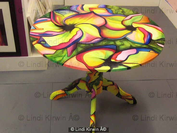 Delightful Image Detail For  LIVING WITH ART Hand Painted Table   Table Base  Contemporary Modern .