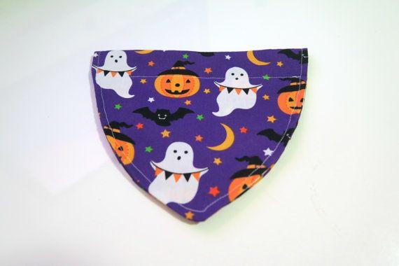 Halloween Dog Bandana Pumpkin-Ghost-Bats-Moon by PawsitiveShopping
