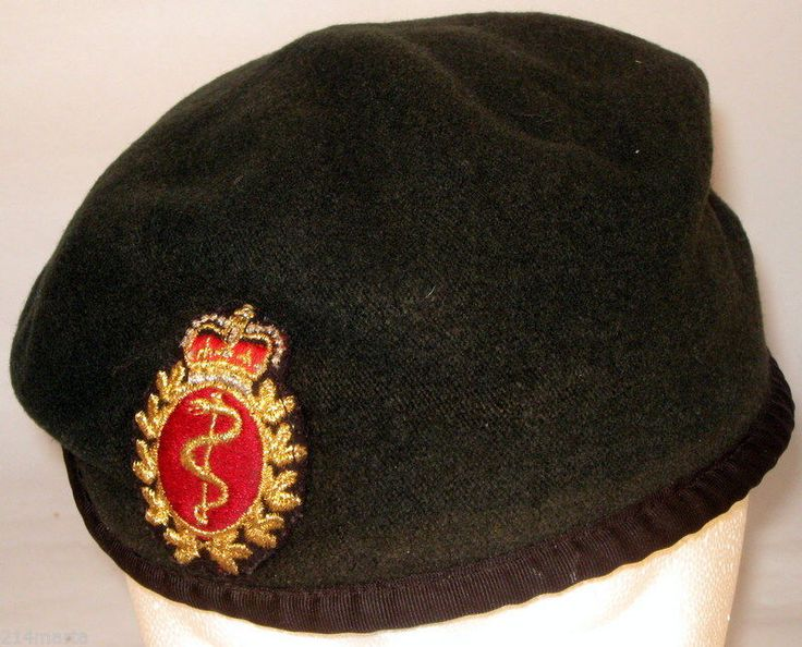 Canada Royal Canadian Medical Service Beret with Badge Insignia Patch