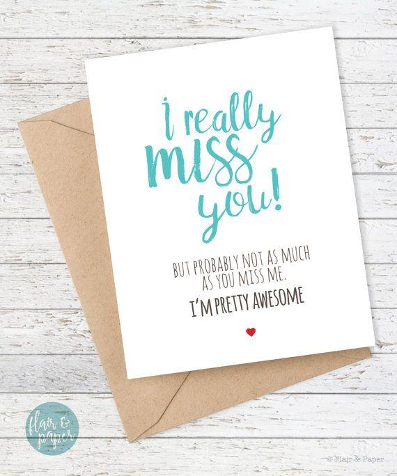 I Miss You Card Boyfriend Card Funny Cards Funny I Miss