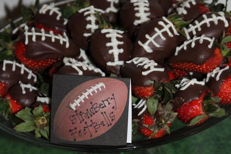 #football #chocolatecoveredstrawberries #babyshower
