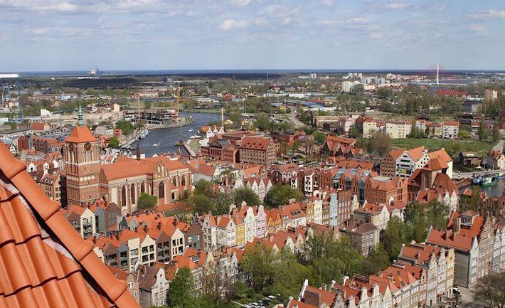 Bazylika Mariacka - panorama z wieży | #gdansk #sightseeing