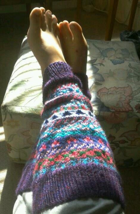 Snazzy legwarmers!