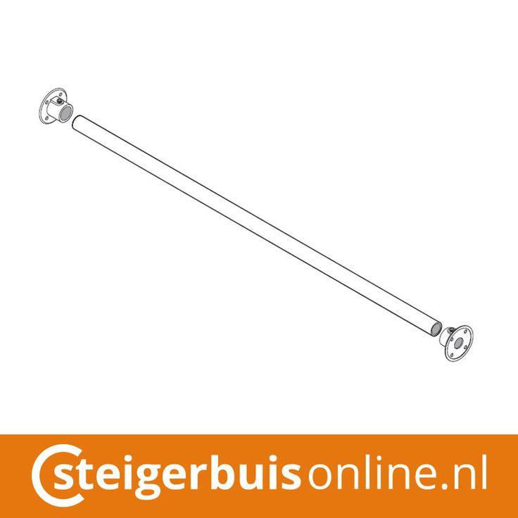 Werktekening (DIY) - Gordijnroede van steigerbuis