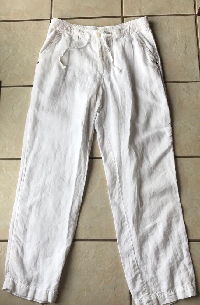 Summer Linen Thin Trousers Casual Men/'s Beach  Rope Tie Drawstring hemp Pants