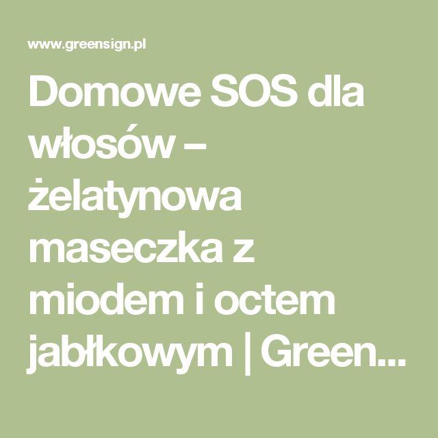 Domowe SOS dla włosów – żelatynowa maseczka z miodem i octem jabłkowym   GreenSign