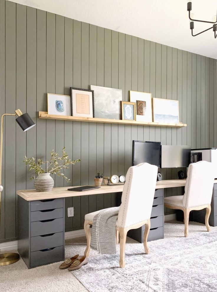 Before And After A Smart Ikea Hack Makes This Home Office Extra Practical In 2020 Ikea Home Office Ikea Home Home Office Design