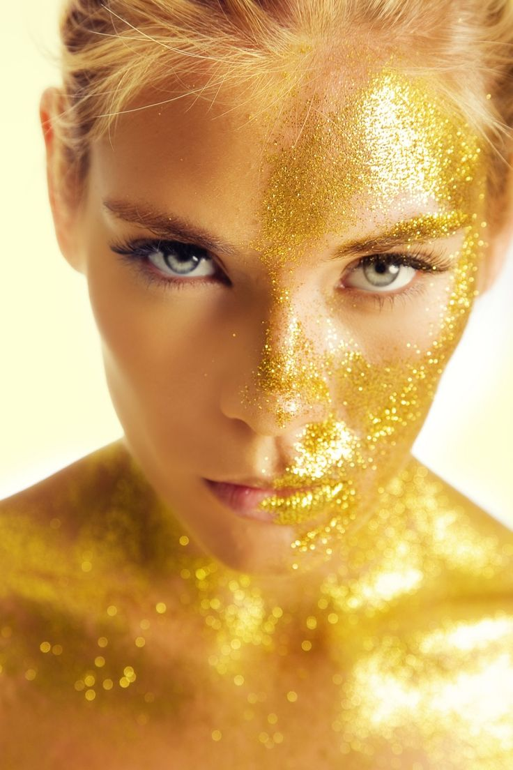 Sparkle shine glitter hair and makeup feathers shimmer - Body Paint Gold And Glitter