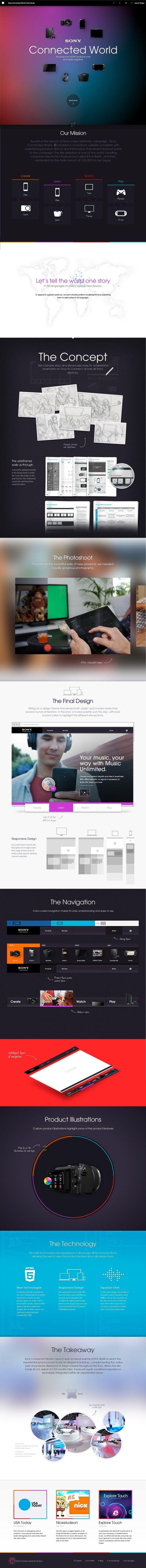 Sony Connected World: Case Study by chris rubin, via Behance