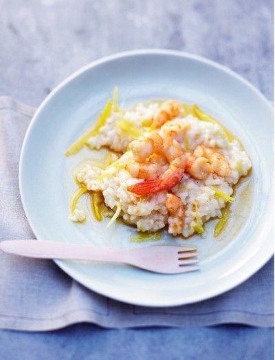 Risotto crevettes citron pour 4 personnes - Recettes Elle à Table - Elle à Table