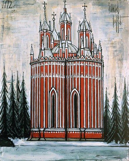 Bernard Buffet - Saint-Petersbourg : L'église de Tchesme - 1992, oil on canvas - 162 x 130 cm