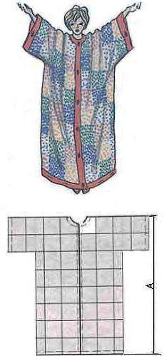 Как самой сшить женский домашний халат без выкройки? | Катюшенька Ру - мир шитья