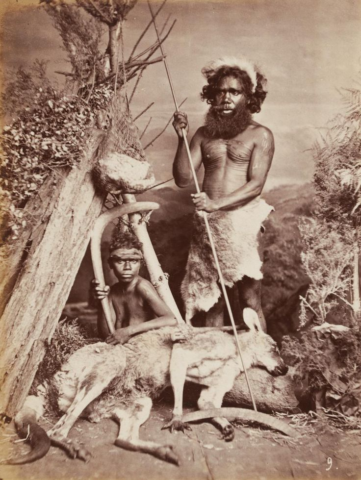 No title (Aboriginal man and woman with kangaroo)