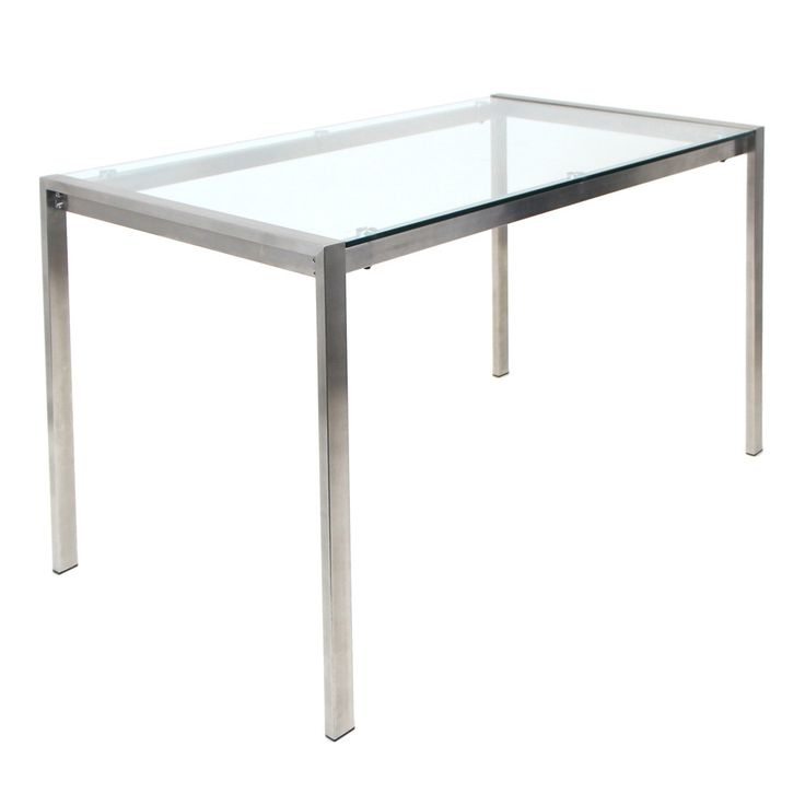 LumiSource Modern Fuji Dining Table in Clear #design #homedesign #modern #modernfurniture #design4u #interiordesign #interiordesigner #furniture #furnituredesign #minimalism #minimal #minimalfurniture