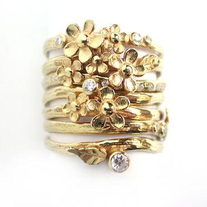 flower ring - Alex Monroe jewelry
