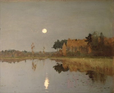 The Twilight Moon, 1899 (oil on canvas) by Isaak Ilyich Levitan / State Russian Museum, St. Petersburg, Russia