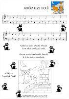 písnička kočka leze dolů