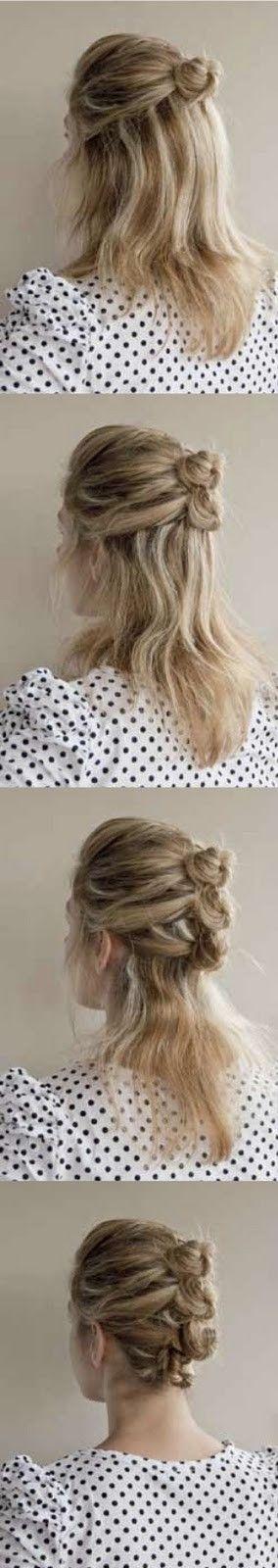 Mini-bun hairstyle