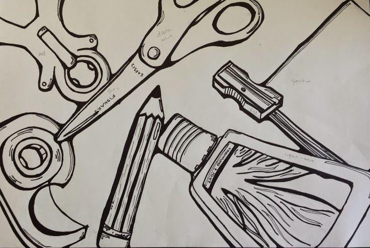 Contour Line Drawing Middle School : Best contour line drawing images on pinterest