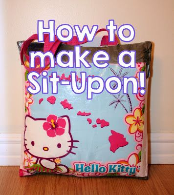 How to make a sit upon for brownies, girl guides, scouts, etc - super easy, super comfy seating for kids camping trips!