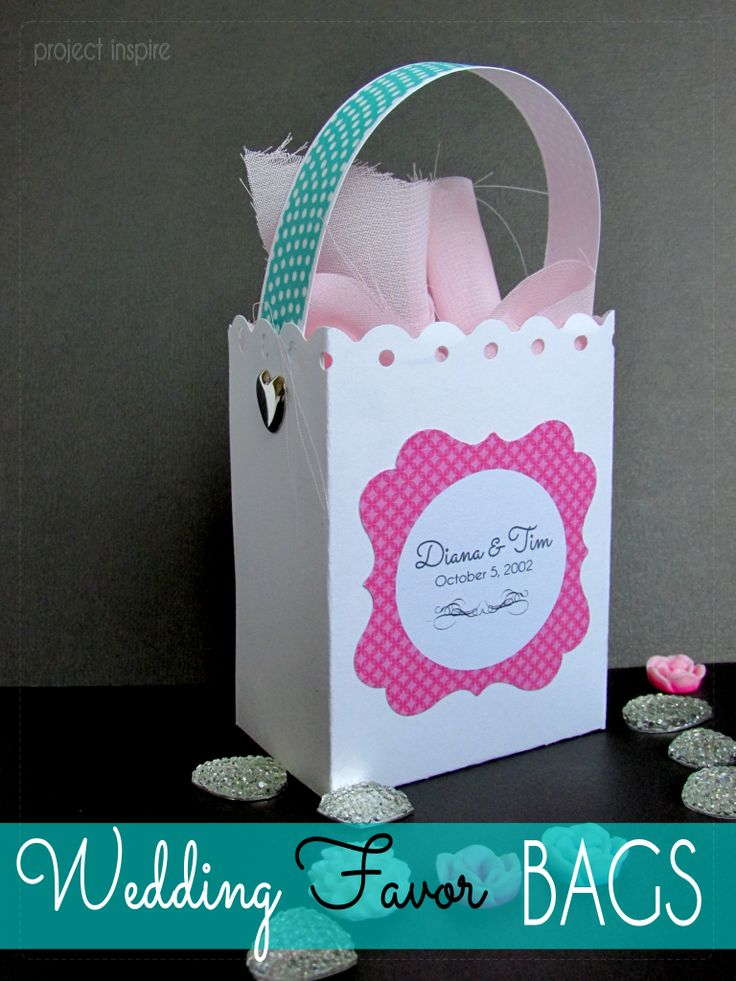 Wedding Favors on a Budget - Project Inspire : wedding favours bag template.