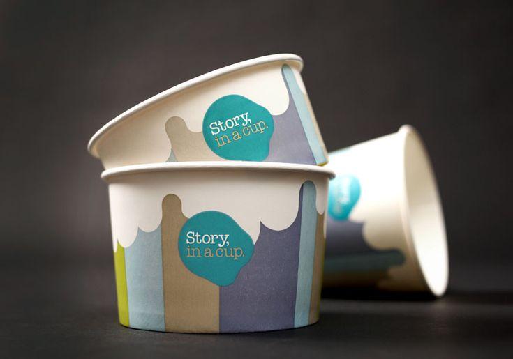 ID for a Frozen Yogurt store: Ice Cream Logos, Packaging Design, Graphics Design, Studios Brave, Ice Cream Branding, Graphics Projects, Ice-Cream Design Packaging, Ice Cream Cups Design, Icecream