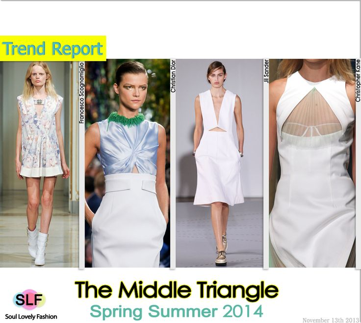 The Middle Triangle #Cutout #Fashion Trend for Spring Summer 2014 #Spring2014 #Trends