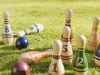 Lawn bowling. A great way to spend a summer afternoon sans smelly bowling shoes!