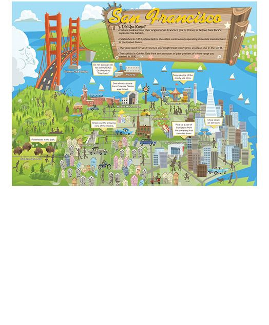 printable san francisco travel map for kids  travel  maps