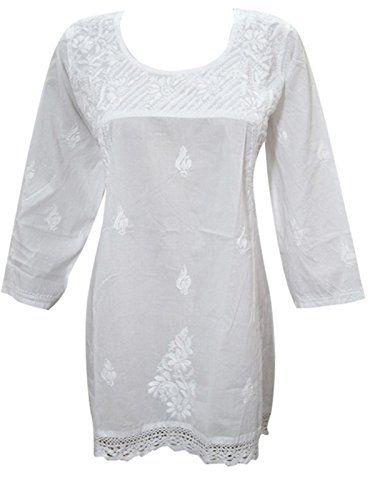 Womens Top Blouse White Hand Embroidered Boho Cotton Kurt... https://www.amazon.ca/dp/B01MUDZ4RU/ref=cm_sw_r_pi_dp_x_kppRzbJQFJT94  #TUNIC #BOHO #FASHION #HIPPIE #SALE #WHITE #GIFT #BOHOHIPPIE #GIFTFORHER