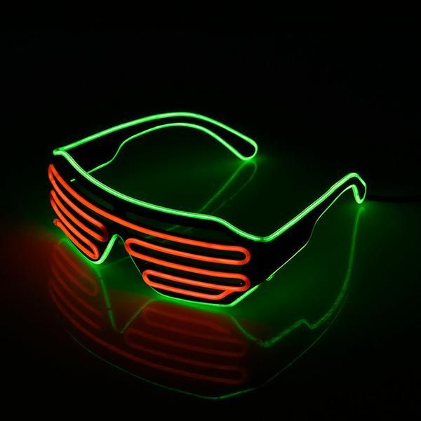 Glowing Classic Carnival DJ Luminous Blinds Modes  EL Flash Glasses Lighting
