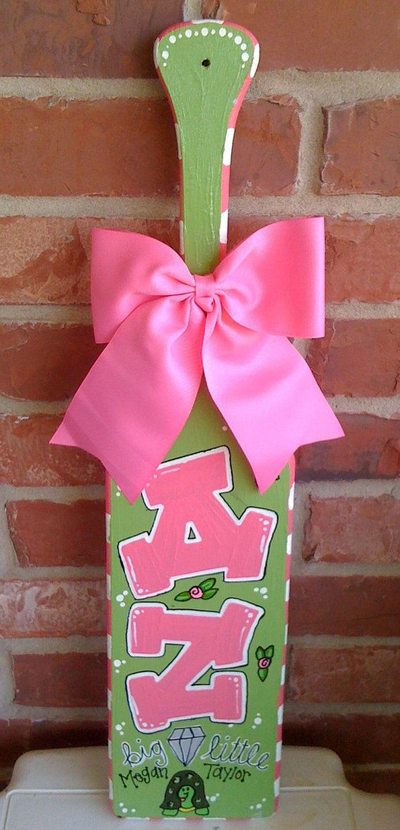 Handmade Custom Sorority Paddle but could be customized into a child paddle! Good old fashion child abuse for bad behaviour as grandma would say.