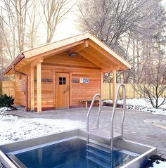 outdoor-sauna (seriously...who wouldn't want this in their backyard?)