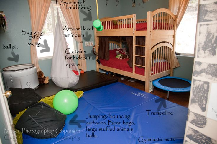 Room ideas for sensory processing disorder
