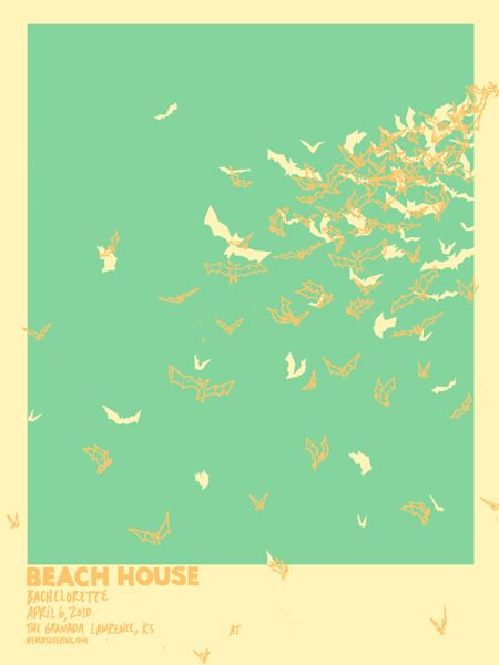 Beach House concert poster by Ben Chlapek
